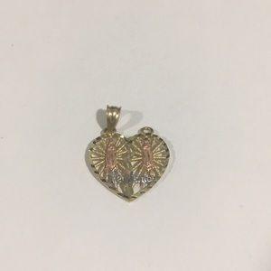 Jewelry - 14k Tri Color Gold Heart ❤️ Shape Te Amo Charm